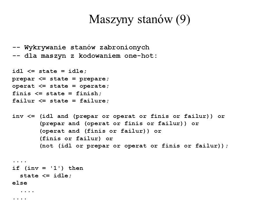 Maszyny stanów (9) -- Wykrywanie stanów zabronionych