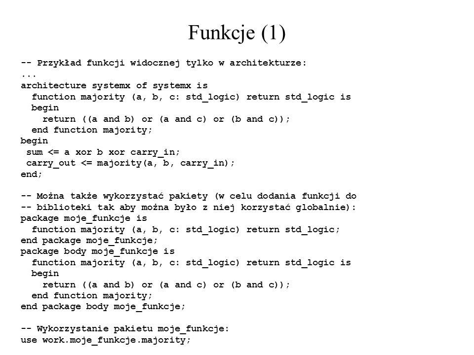 Funkcje (1) -- Przykład funkcji widocznej tylko w architekturze: ...