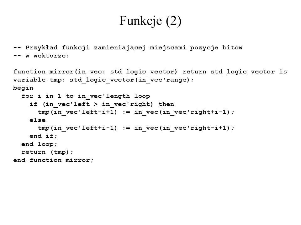 Funkcje (2) -- Przykład funkcji zamieniającej miejscami pozycje bitów