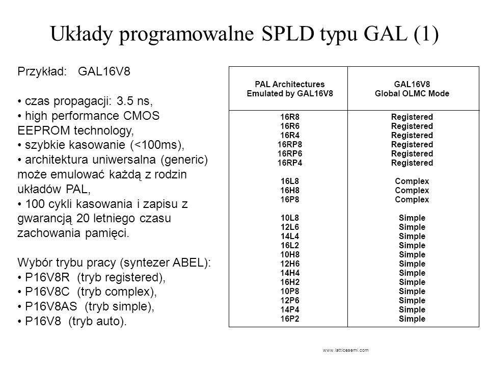 Układy programowalne SPLD typu GAL (1)