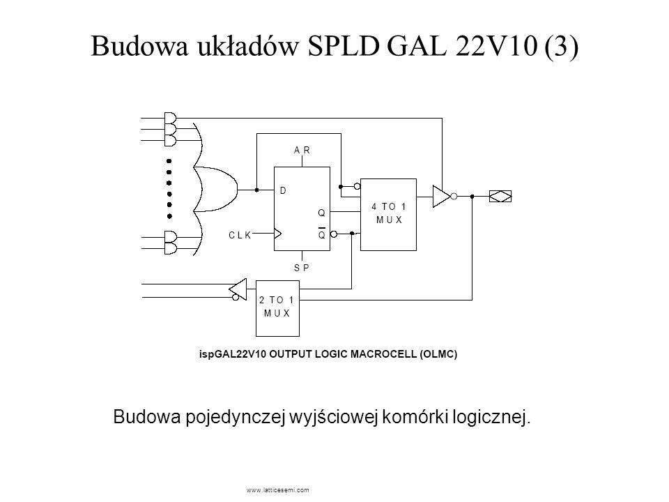 Budowa układów SPLD GAL 22V10 (3)