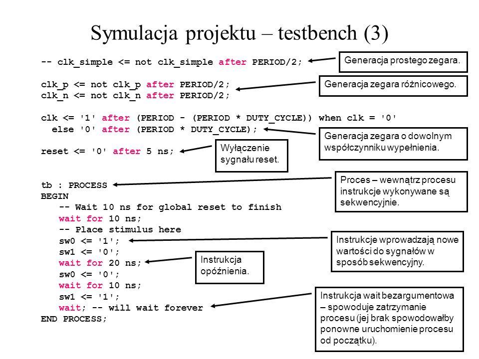Symulacja projektu – testbench (3)