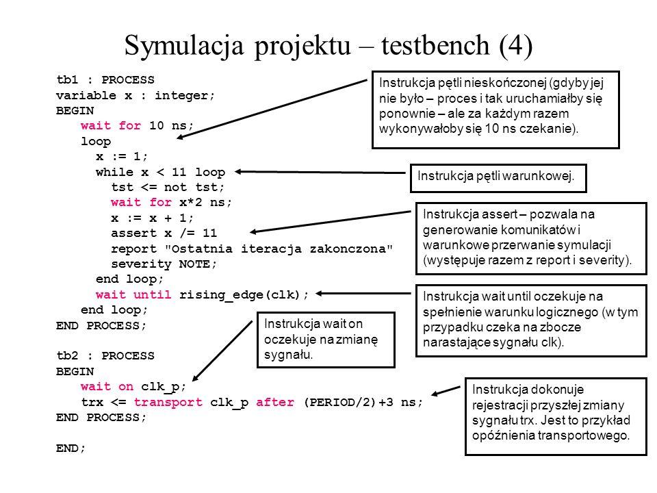 Symulacja projektu – testbench (4)