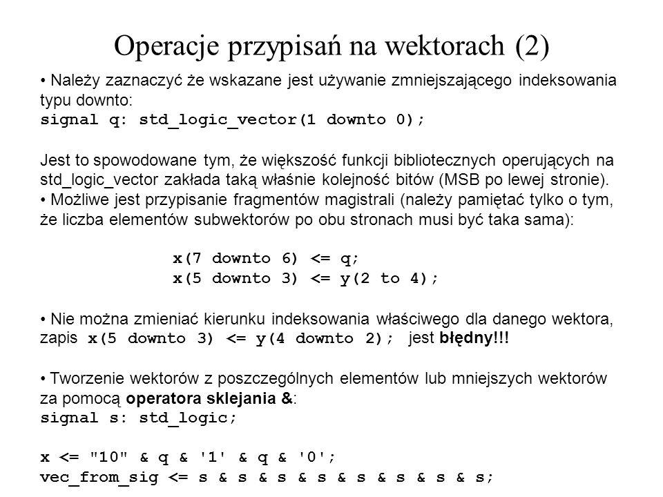 Operacje przypisań na wektorach (2)
