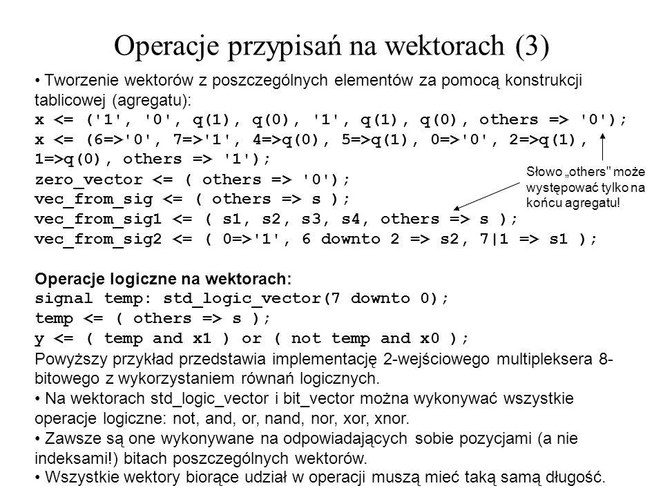 Operacje przypisań na wektorach (3)