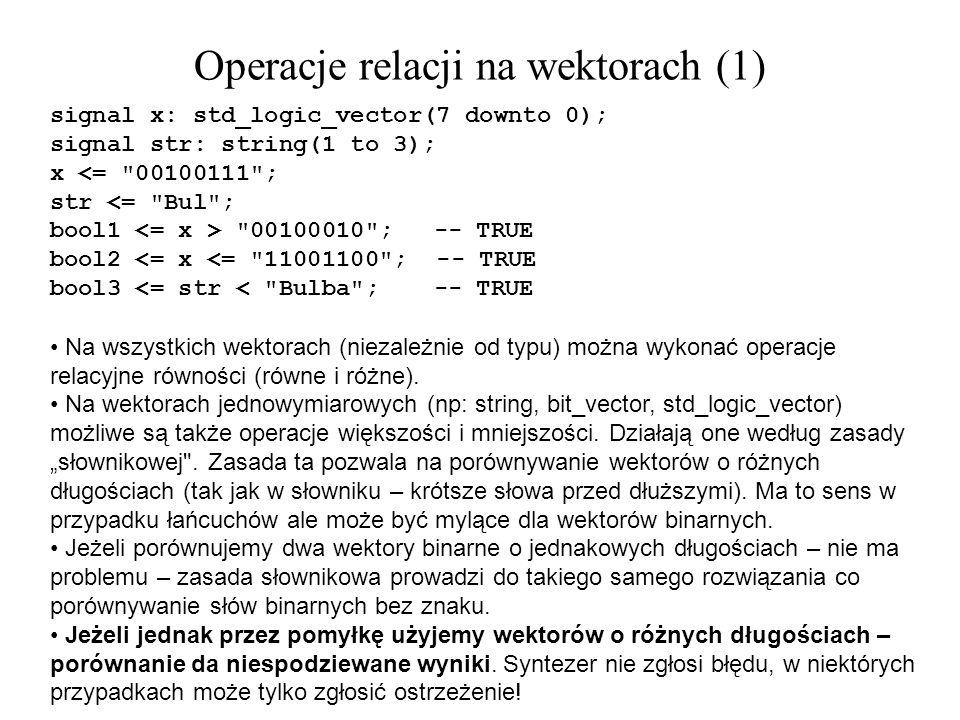 Operacje relacji na wektorach (1)