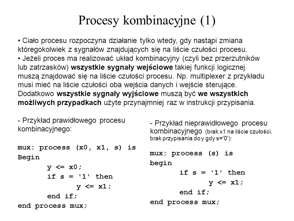 Procesy kombinacyjne (1)