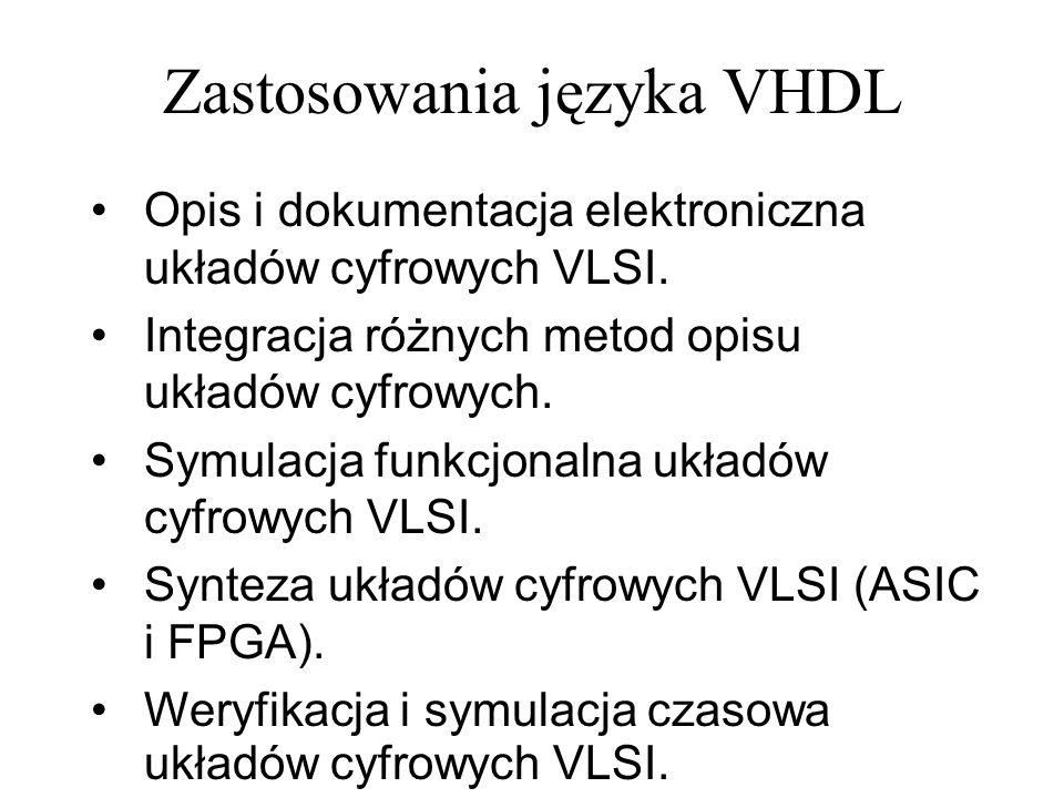 Zastosowania języka VHDL