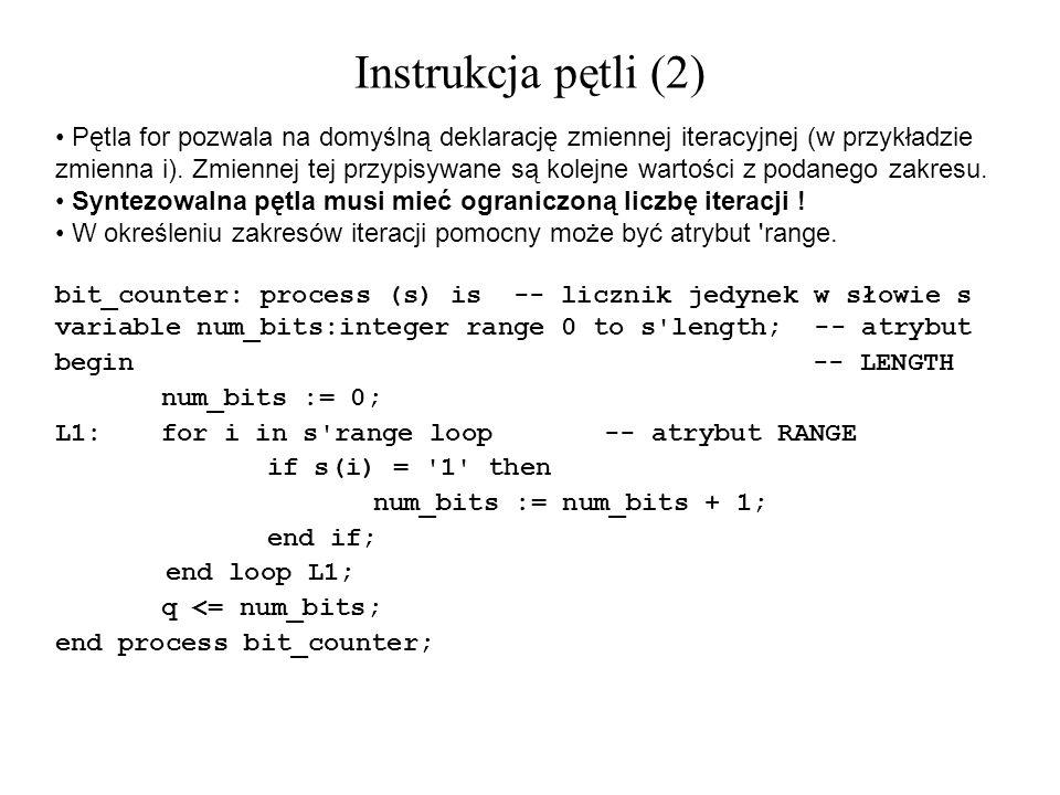 Instrukcja pętli (2)