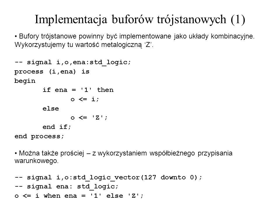 Implementacja buforów trójstanowych (1)