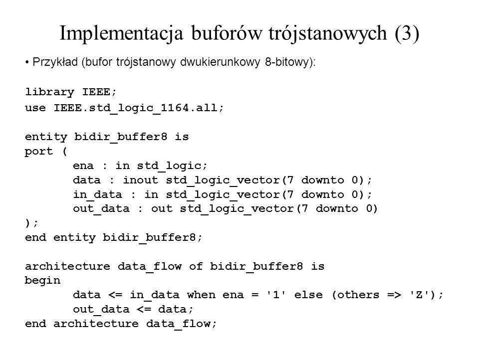 Implementacja buforów trójstanowych (3)