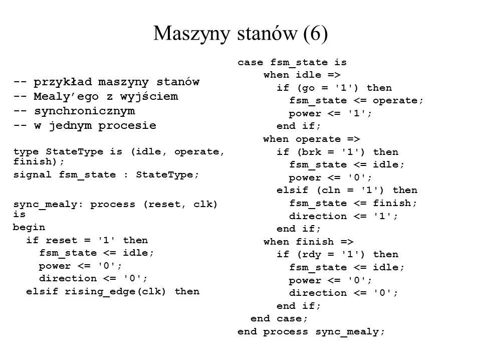 Maszyny stanów (6) -- przykład maszyny stanów