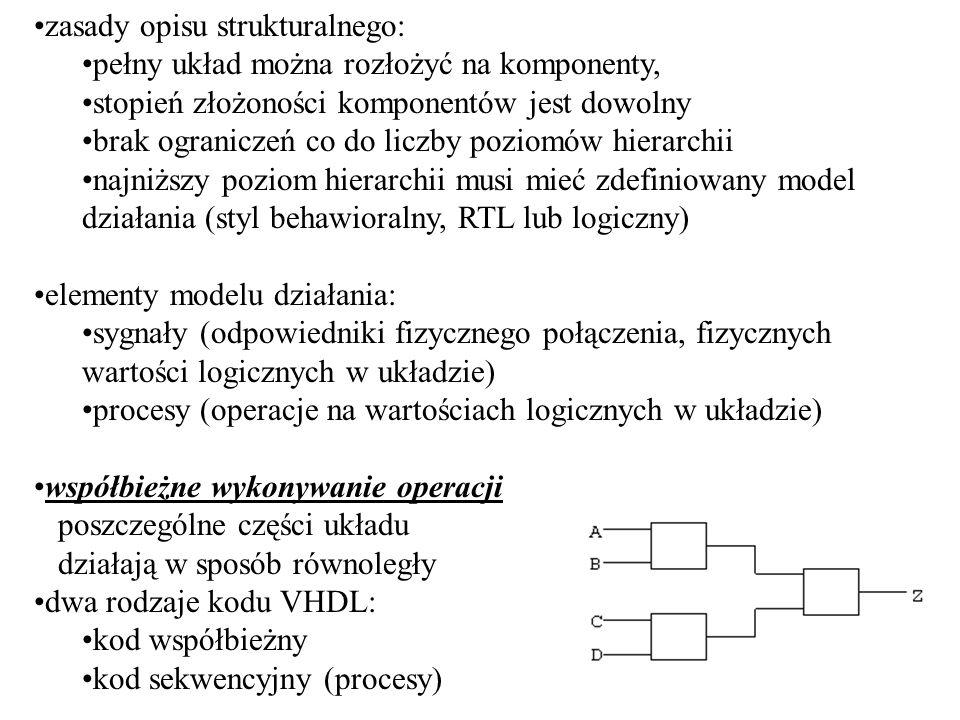 zasady opisu strukturalnego: