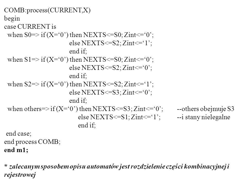 COMB:process(CURRENT,X)
