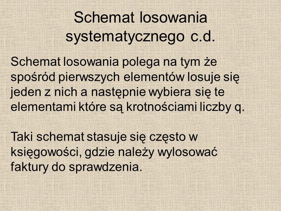 Schemat losowania systematycznego c.d.