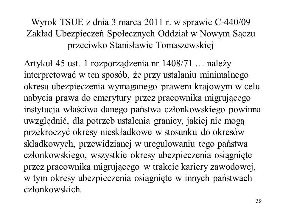 Wyrok TSUE z dnia 3 marca 2011 r