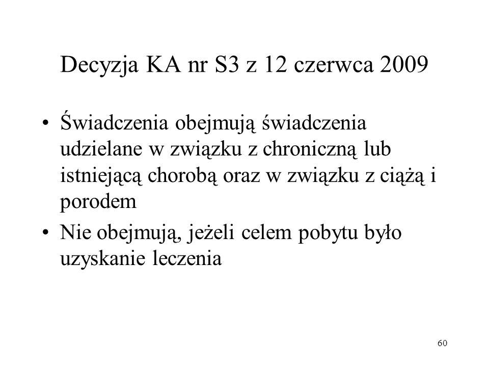 Decyzja KA nr S3 z 12 czerwca 2009
