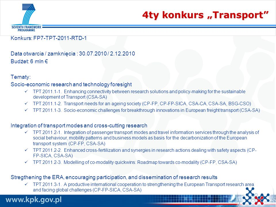 "4ty konkurs ""Transport"