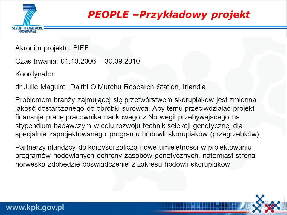 PEOPLE –Przykładowy projekt