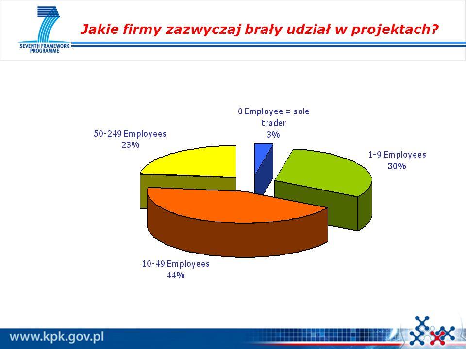 Jakie firmy zazwyczaj brały udział w projektach