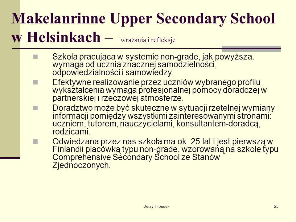 Makelanrinne Upper Secondary School w Helsinkach – wrażania i refleksje