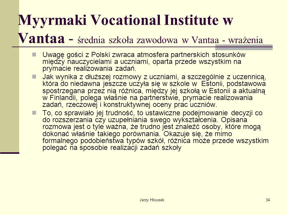 Myyrmaki Vocational Institute w Vantaa - średnia szkoła zawodowa w Vantaa - wrażenia