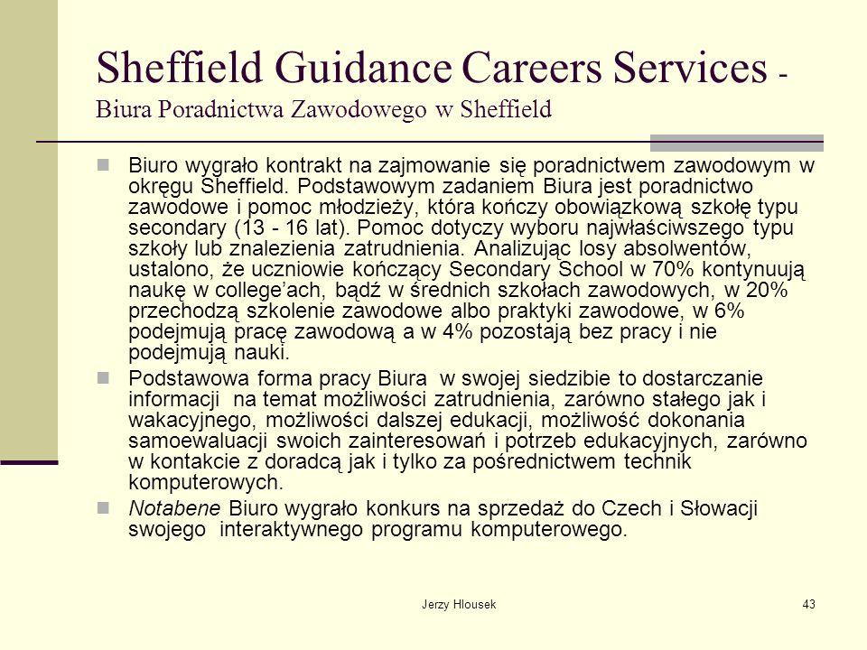 Sheffield Guidance Careers Services - Biura Poradnictwa Zawodowego w Sheffield