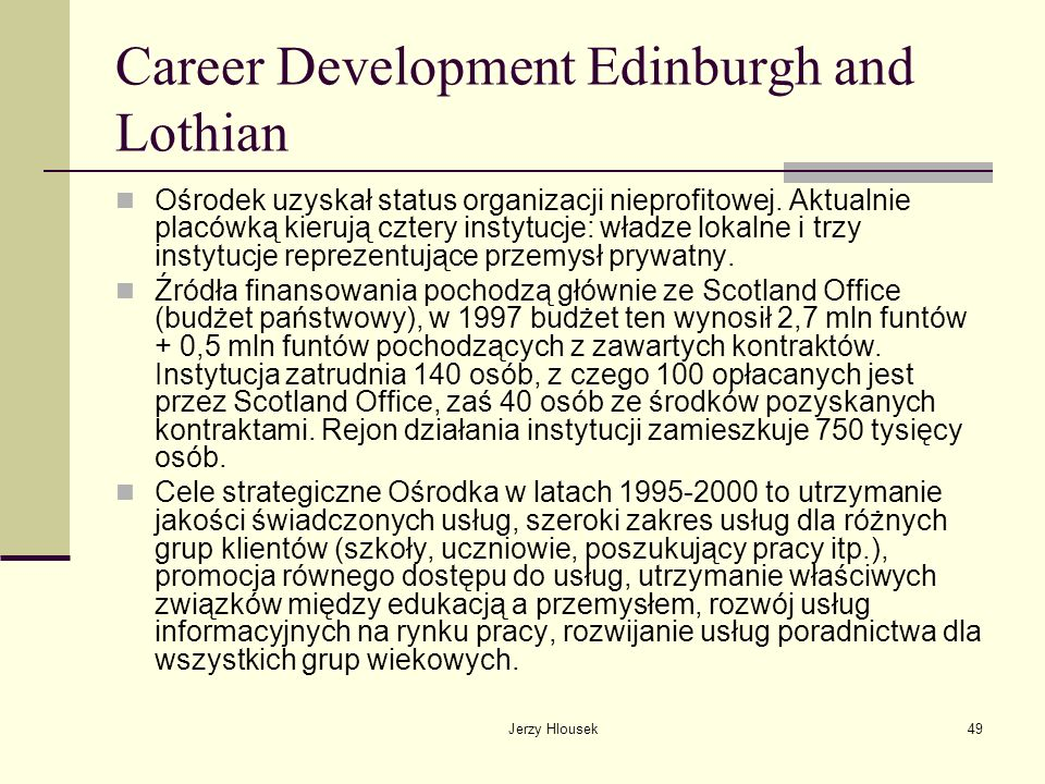 Career Development Edinburgh and Lothian