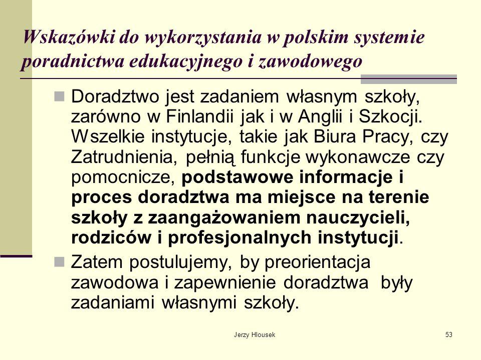 Wskazówki do wykorzystania w polskim systemie poradnictwa edukacyjnego i zawodowego