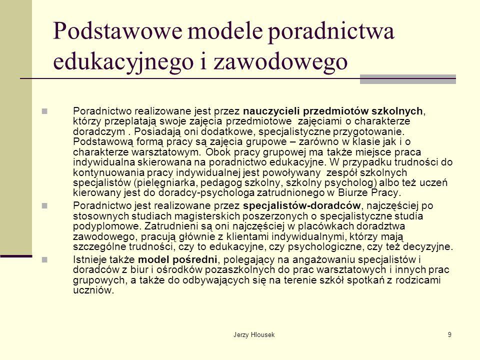 Podstawowe modele poradnictwa edukacyjnego i zawodowego