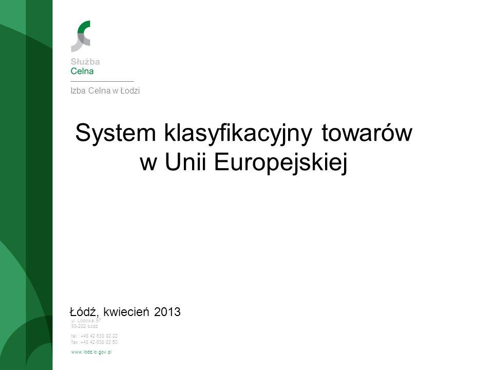System klasyfikacyjny towarów