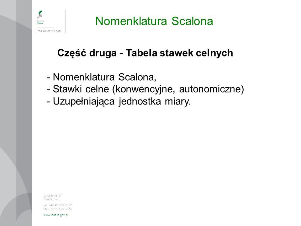 - Nomenklatura Scalona, - Stawki celne (konwencyjne, autonomiczne)