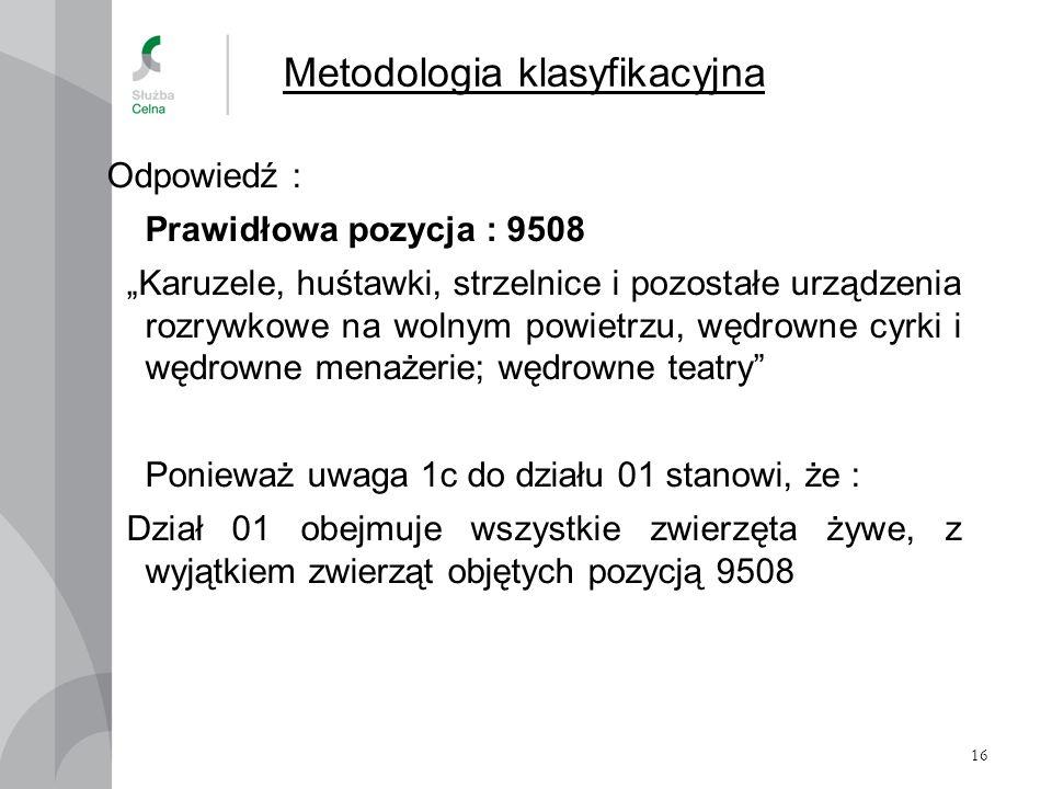 Metodologia klasyfikacyjna