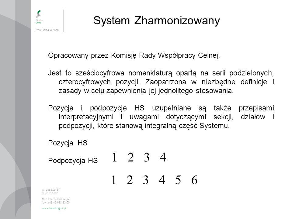 1 2 3 4 1 2 3 4 5 6 System Zharmonizowany
