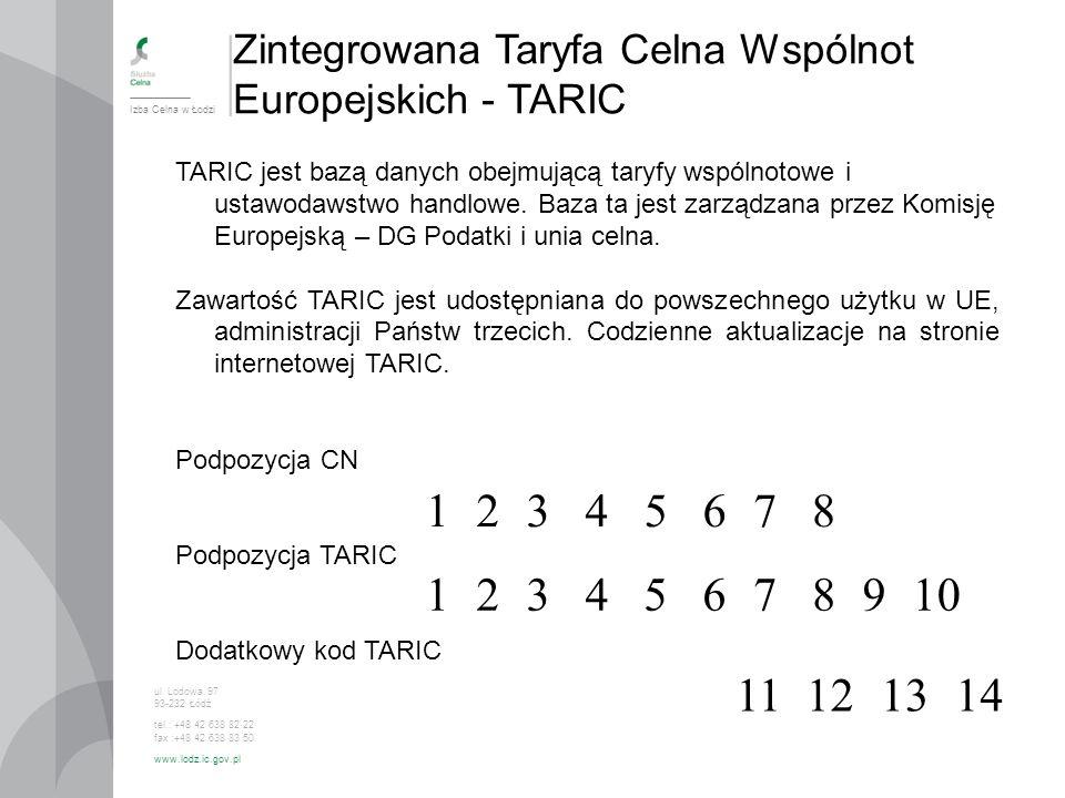 Zintegrowana Taryfa Celna Wspólnot Europejskich - TARIC