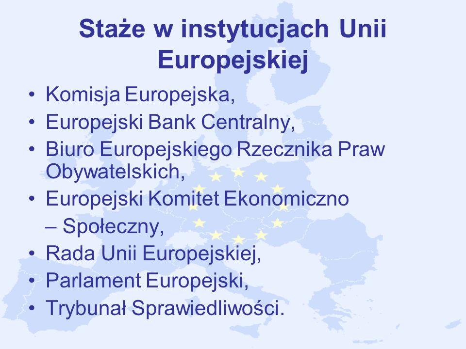 Staże w instytucjach Unii Europejskiej