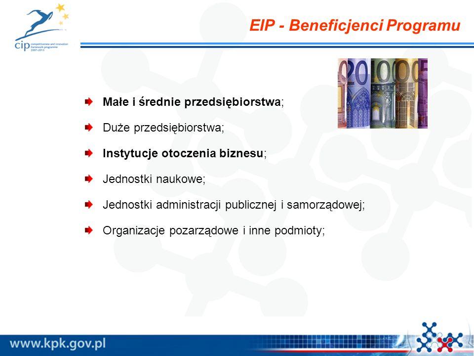 EIP - Beneficjenci Programu