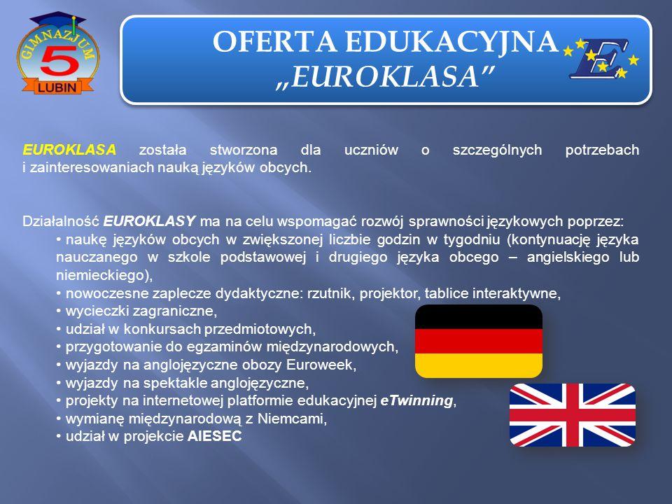 """OFERTA EDUKACYJNA """"EUROKLASA"""