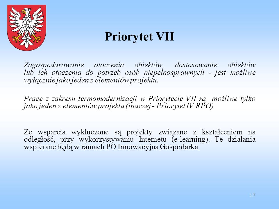 Priorytet VII