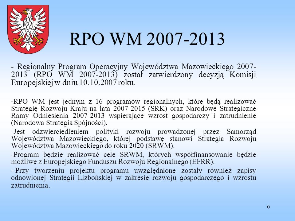 RPO WM 2007-2013