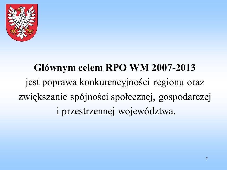 jest poprawa konkurencyjności regionu oraz