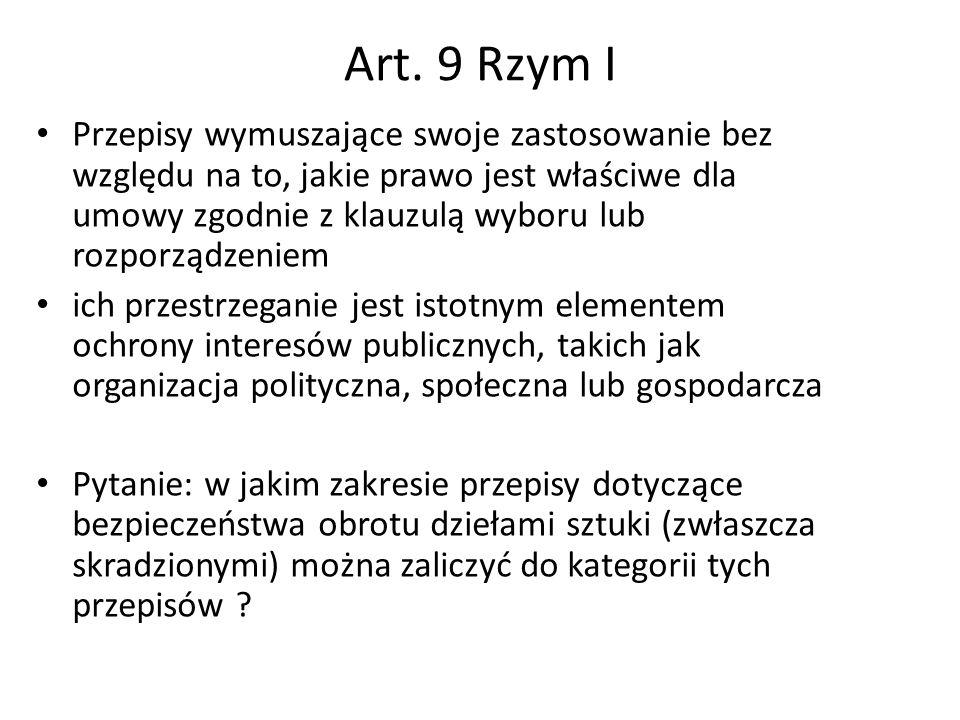 Art. 9 Rzym I