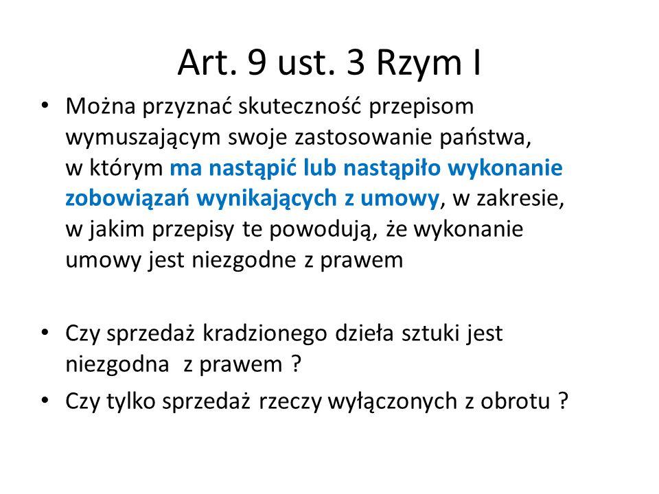 Art. 9 ust. 3 Rzym I