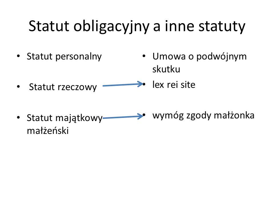 Statut obligacyjny a inne statuty