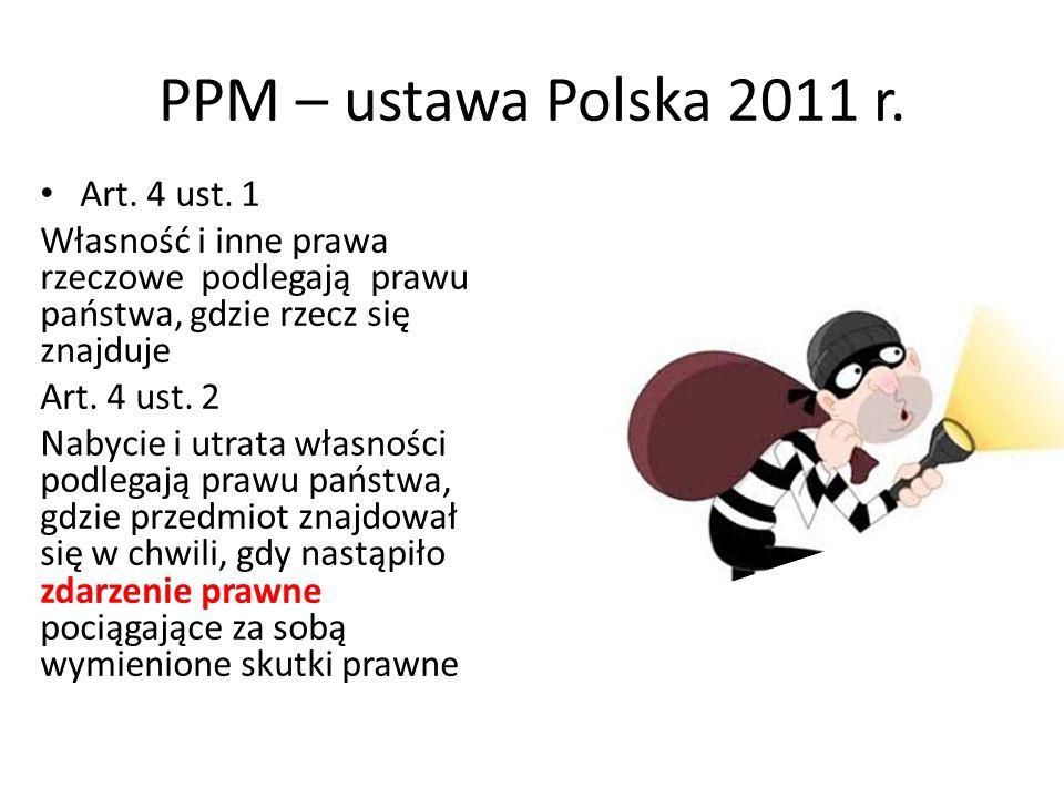 PPM – ustawa Polska 2011 r. Art. 4 ust. 1