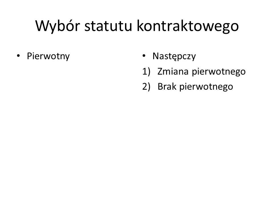Wybór statutu kontraktowego