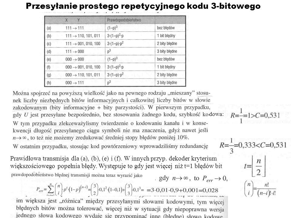 Przesyłanie prostego repetycyjnego kodu 3-bitowego