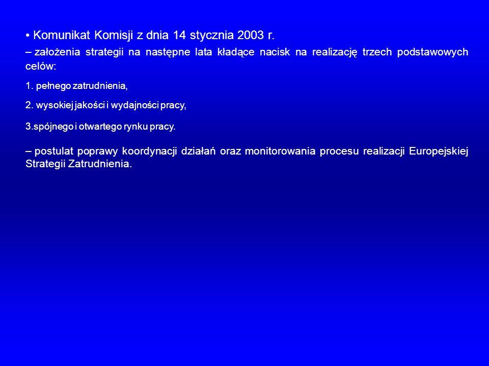 Komunikat Komisji z dnia 14 stycznia 2003 r.