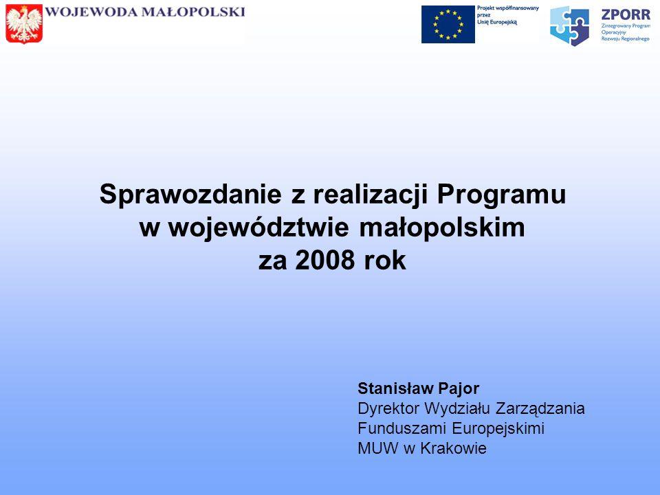 Sprawozdanie z realizacji Programu w województwie małopolskim za 2008 rok
