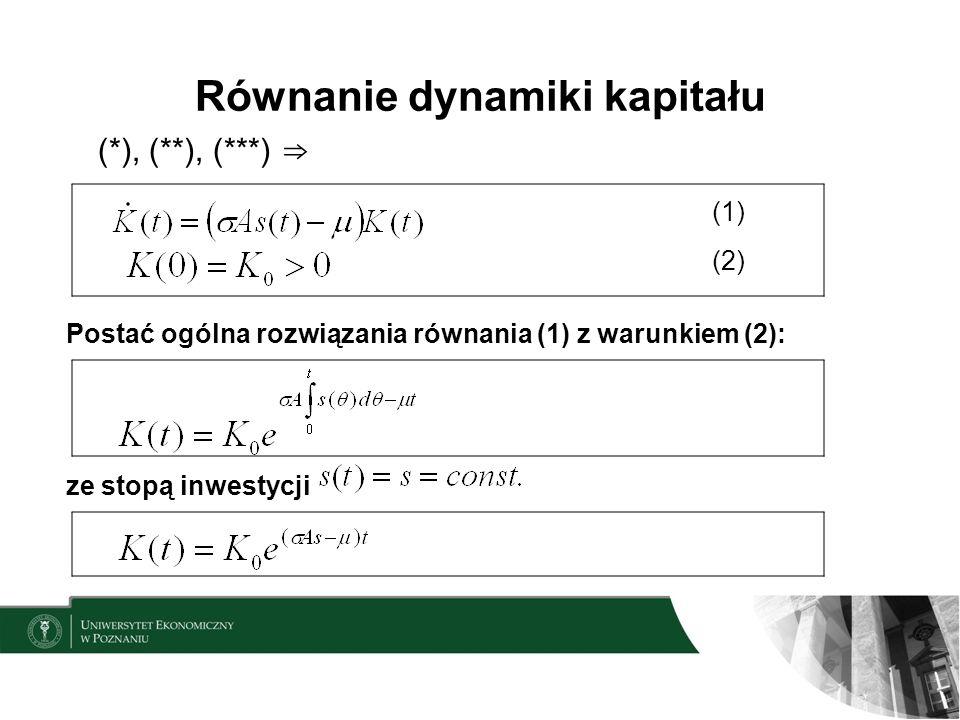 Równanie dynamiki kapitału